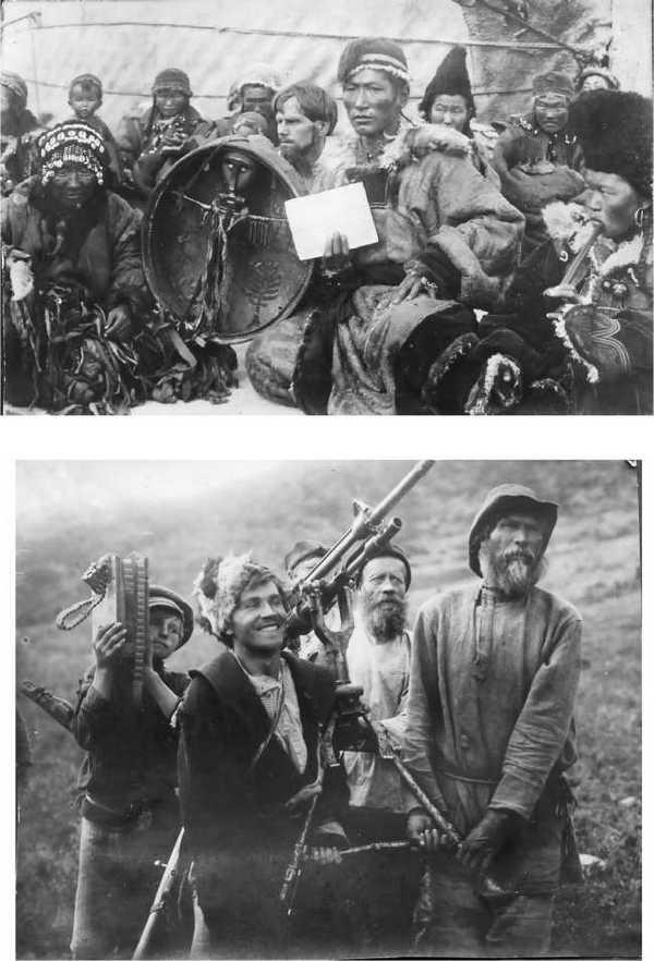 """На съемках фильма """"Красный газ"""" в горах Алтая. 1924 г."""